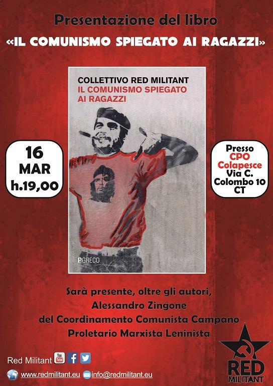 presentazione libro il comunismo spiegato ai ragazzi banner Red Militant - Pgreco