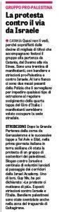 Gazzetta dello sport Catania giro d'italia Palestina Israele