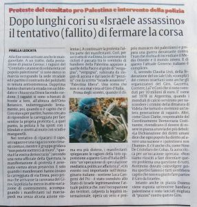 La sicilia Catania giro d'italia Palestina Israele